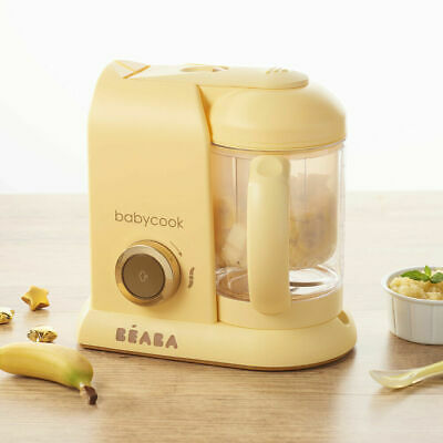 Beaba Babycook Solo Baby Food Processor Steam Cook Blend Defrost - Yellow