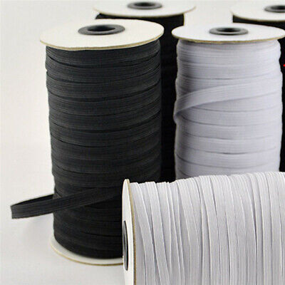 200 Yards Flat Elastic Band 3/5/6mm Stretch Rubber Strap Cord DIY Sewing Making