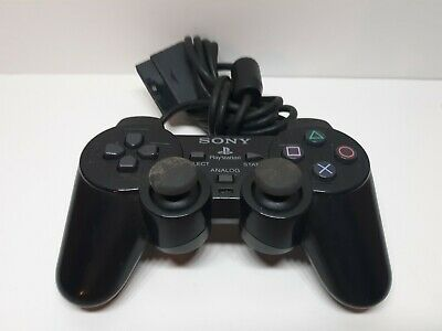 OEM SCPH-10010 PS2 Black Wired Dual Shock Controller Official Playstation 2. D2