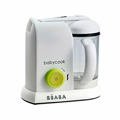 Beaba Babycook Solo Baby Food Processor Steam Cook Blend Defrost - Neon