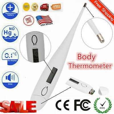 LCD Digital Thermometer for Baby Kids & Adults w Flexible tip | Oral Underarm LX