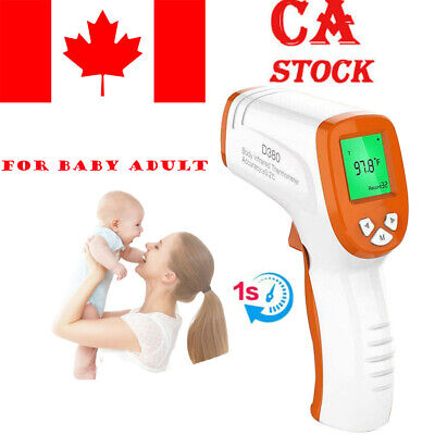 IR Infrared LCD Digital Forehead Fever Thermometer Non-Contact Baby Child Adult