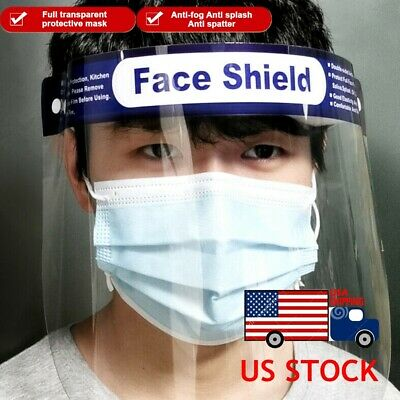 MEDICAL SAFETY FACE SHIELD With CLEAR FLIP-UP VISOR Antifogging Eye Face Cover