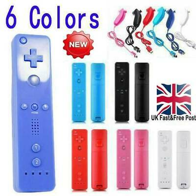 NEW REMOTE CONTROLLER and NUNCHUCK FOR NINTENDO WII & WII U + SILICONE + STRAP