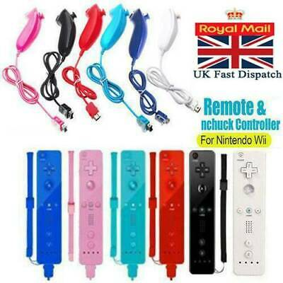 Motion Plus Remote Nunchuck Controller + Silicone case for Nintendo Wii + Wii U