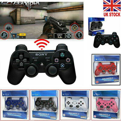 New UK PS3 Dualshock 3 Wireless Bluetooth Game Controller for Sony Playstation 3