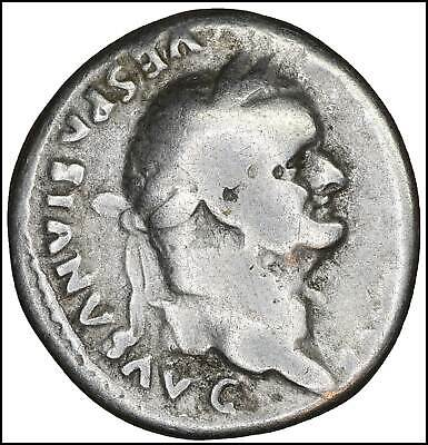 Vespasian AR Denarius old ancient roman silver coin Rome Empire Imperial