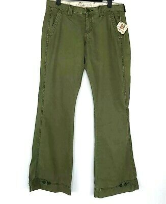 Lucky Brand Womens Size 6/28 Mid Rise Boot Cut Cargo Pants Army Green Nwt