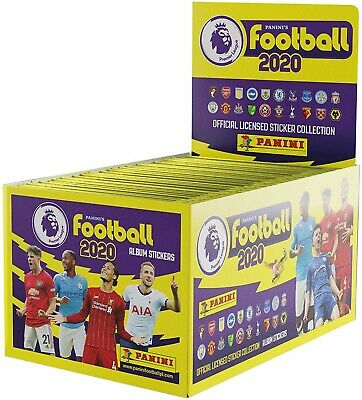 Panini Football 2020 Premier League 40 Sticker Packets Not Full Box 40 + ALBUM