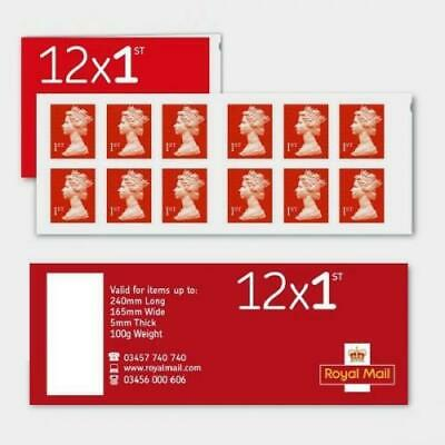 12 x 1st Class Royal Mail Postage Stamps Booklet Discounted DEAL Genuine