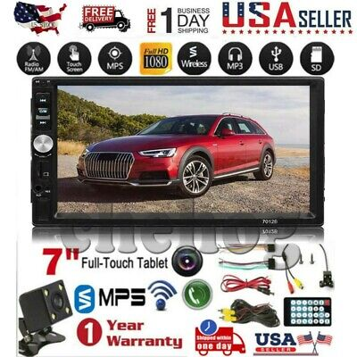 7 Double 7023B 2 DIN Car GPS Radio MP5 Player Touch Screen bluetooth+Rear Camera