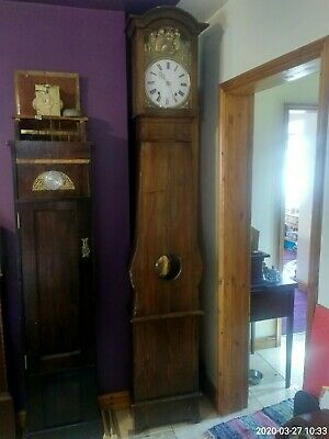 Antique French Comtoise Longcase grandfather Clock