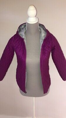 LANDS END Kids Girls Coat Light Purple Jacket Coat Age UK 8-9 Years Hooded