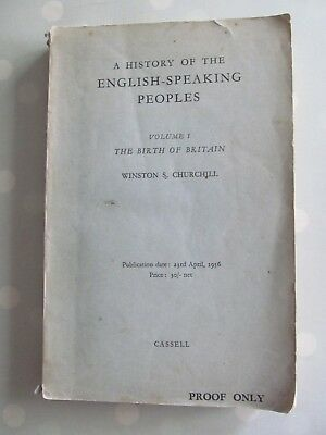 History Of The English Speaking Peoples Winston Churchill Vol 1 1956 Proof Copy