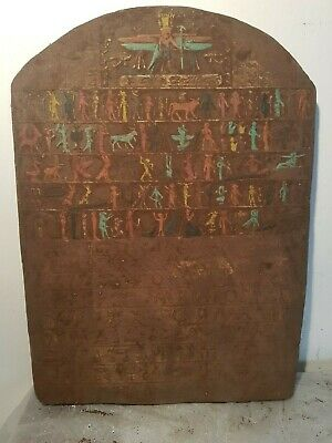 Rare Antique Ancient Egyptian Stel Holy Book Sacred Words Pray God 1790-1680BC