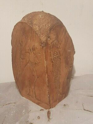 Rare Antique Ancient Egyptian Corner Temple God Bastet Bes Cat Protct1760-1680BC