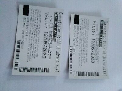 Chessington World Of Adventures Tickets - Sunday 22nd March 2020 22/3
