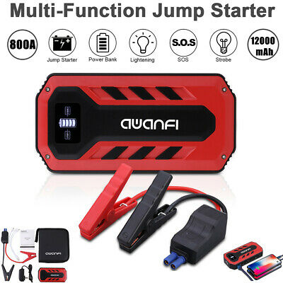 800A Peak 12000mAh 12V Car Jump Starter Booster Battery Charger USB Power Bank