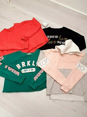 Girls Bundle Of Sweaters Jumpers Age 12 Years Average Modern Cropped Styles