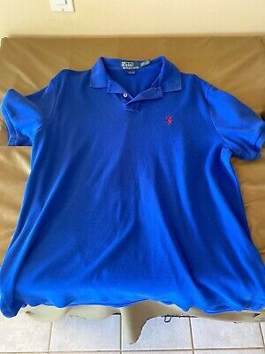 Mens Polo by Ralph Lauren S/S Polo/Golf Shirt Size Large L - Red - Cotton