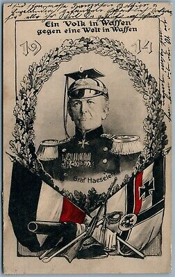 German Generalfeldmarschall Graf Haeseler 1914 Wwi Antique Postcard