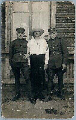 ESTONIAN SOLDIERS ANTIQUE 1920s REAL PHOTO POSTCARD RPPC