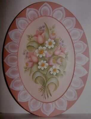 "Gail Anderson tole painting pattern ""Spring Flowers on Lacel"""