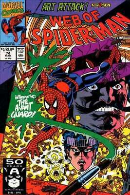 Web of Spider-Man (1985 series) #74 in NM minus condition. Marvel comics [*1x]