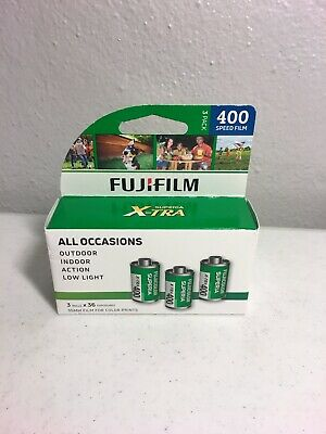Fujifilm Superia X-TRA 400 Speed Fuji Film  2019 NIB 35mm Color Camera 3 Rolls
