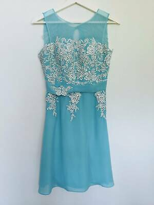 Turquoise Bridesmaid / Cocktail dress by For Her And For Him, Size 8