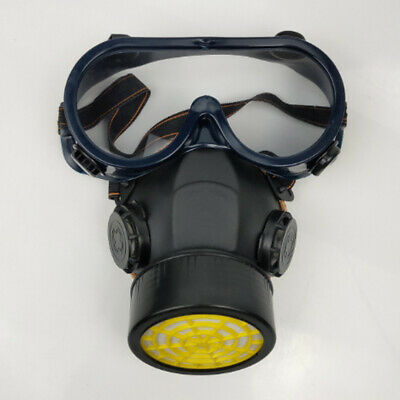 Emergency Respirator MaskER Chemical Gas Mask with Goggles Protection HOT