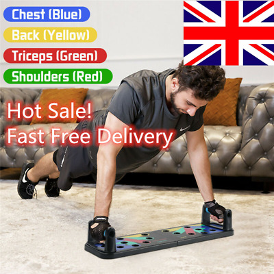 9 in1 Push-up Board Stand Fitness Workout Gym Chest Muscle Training Exercise uk