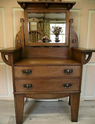 Arts and Crafts Dressing Table Circa 1900 Manner of Leonard Wyburd for Liberty