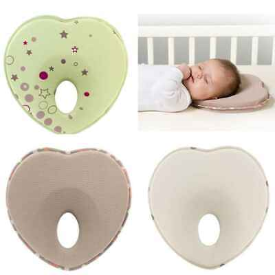 Head Support Pad Lovely Heart Shape Infant Baby Pillow Newborn Prevent Flat UK
