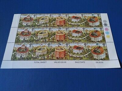 Gb Shakespeare;S Globe Theatre 1995 Mint Royal Mail Stamps, Free Postage