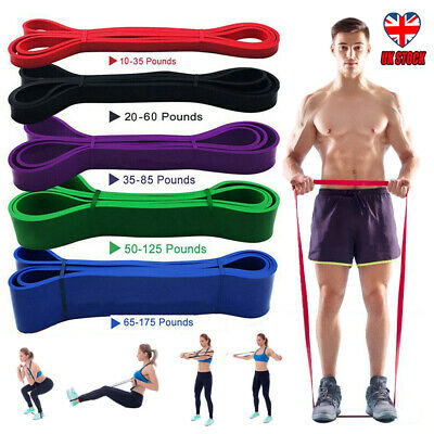 5PC/SET Resistance Exercise Heavy Duty Bands Natural Latex Tube Home Gym Fitness