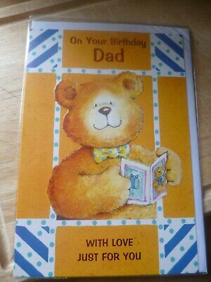 On Your Birthday Dad ~ With Love Just For You ~ Birthday Card ~ NEW
