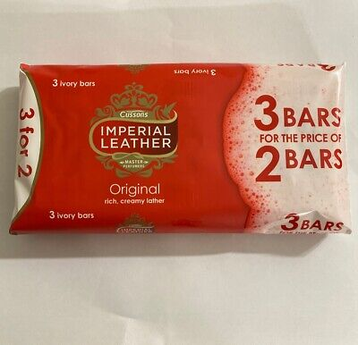 9 x CUSSONS IMPERIAL LEATHER ORIGINAL CLASSIC RICH CREAMY LATHER BATH SOAP