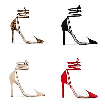 Women's 120 mm High Heel Shoes Rhinestone Suede Fabric Pointed Toe D'Orsay Pumps