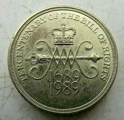 1989 Two £2 Pound Coin 1689 - 1989 Tercentenary Of The Bill Of Rights Britain
