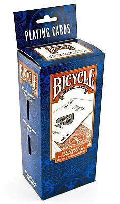 Bicycle Poker Size Standard Playing Cards 12 Decks 6 Red & 6 Blue - New - Sealed