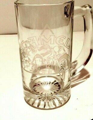 ~Vintage~ 1991 Joe Camel Cigarettes Motorcycle Glass Mug!!!