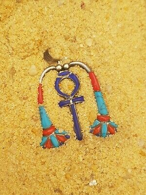 Rare Antique Ancient Egyptian Silver Hanger Key Life Happy & Extra Life 1740 BC