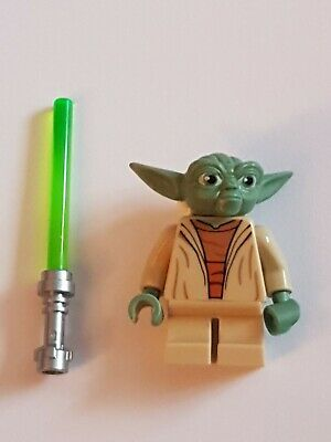 Lego Star Wars Mini Figures Yoda with White Hair Used