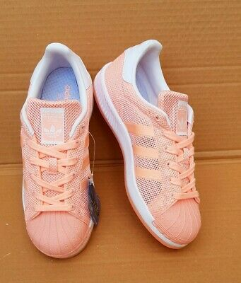 interrumpir compensación Destino  BNWT ADIDAS SUPERSTAR Bounce White And Coral Peach Trainers Size 4.5 Uk New  - £45.00 | PicClick UK