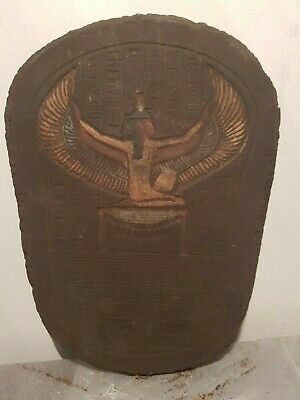 Rare Antique Ancient Egyptian Stela God Isis Good Health Cure ill 1870-1790BC