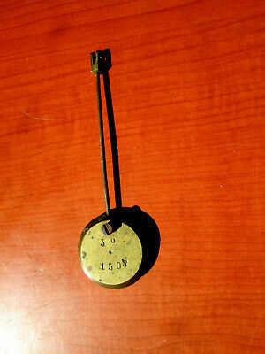 "Antique / Vintage  French Shelf, Mantle Clock Pendulum  4-1/8""  (674A14)"