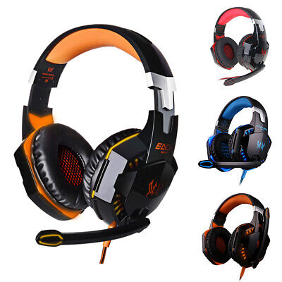 3.5mm Stereo Surround Live Gaming Chat Headset LED For PS4 Wii XBOX One Switch