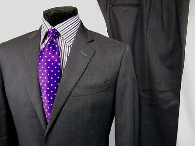 BROOKS BROTHERS 1818 Madison Estrato Solid Gray men's 2 Piece suit 40R