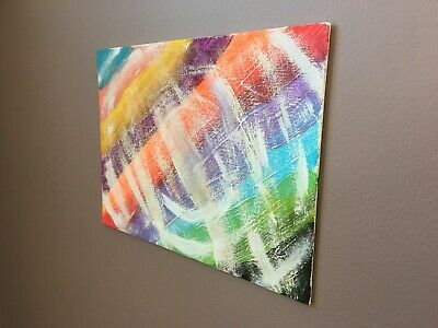 6 x 8 E. D. SPINNEY Original Abstract Painting ART Colorful Decor